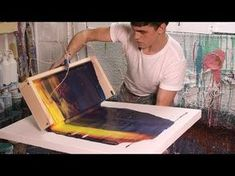 Abstract painting / How to paint Abstract painting in Acrylics / Demonstration - YouTube