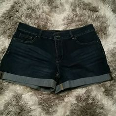 NWOT dark blue jean shorts Dark blue jean shorts, never worn and without tags New York & Company Shorts Jean Shorts
