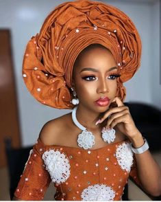 Beautiful Makeup And Gele Styles You Should See Now African Lace, African Wear, African Attire, African Women, African Dress, African Clothes, African Style, Traditional Wedding Attire, African Traditional Wedding