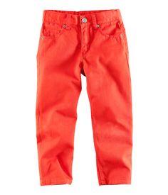 Colored denim for G. Green, grey, bright blue, orange. H size 8 $10
