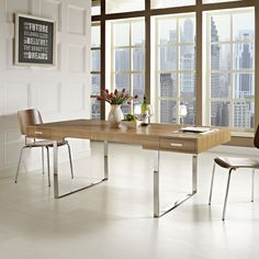 Tinker Natural Wood Desk - Overstock™ Shopping - Great Deals on Modway Desks $1542 - great modern style desk.