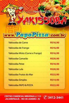 Panfleto Yakissoba - Papo Pizza