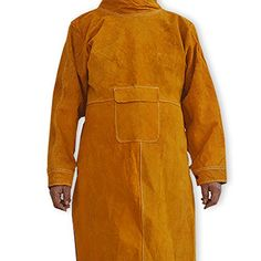 ebc96defa6 NUZAMAS Welding Apron Anti-flame Cowhide Long Coat Protective Clothing  Apparel Suit Welder Durable Leather Extra Protection 102cm