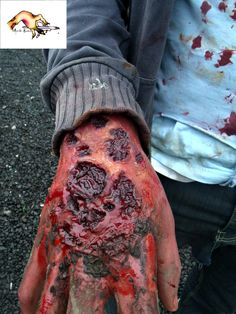 Zombie tear Halloween Costume Prosthetic for sale by The Prosthetic / Mask Maker at http://MoreThanHorror.com Zombie prosthetics and accessories