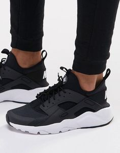 nike air huarache run damen schwarz
