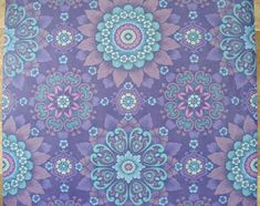 blue vintage wallpaper | Vintage Wallpaper purple ALHAMBRA wall vinyl paper violet retro ...