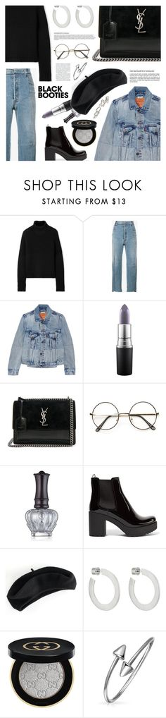 """""""it's my life so truth be told"""" by sugaplump ❤ liked on Polyvore featuring Burberry, Vetements, MAC Cosmetics, Yves Saint Laurent, Anna Sui, Prada, Apt. 9, Jennifer Fisher, Gucci and Bling Jewelry"""