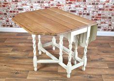 Upcycle Refurbished Solid Oak Barley Twist Drop Leaf Gate Leg Folding Table Dining Kitchen | United Kingdom | Gumtree
