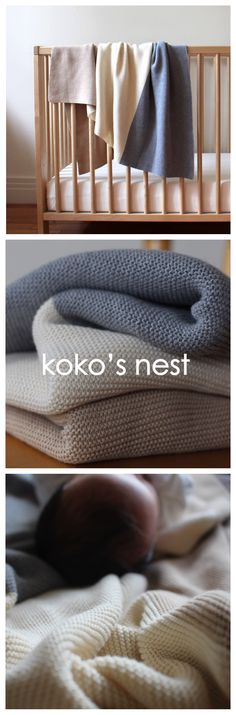 Supersoft Baby's First Blanket // 100% Egyptian Cotton // Soft, luxurious, and machine washable for the modern nesting family // kokosnest.com