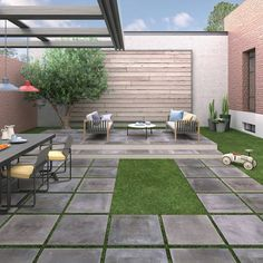 Twenty, style in outdoor paving. Porcelain stoneware in 20 mm thick slabs:the most innovative, functional solution for all types of outdoor flooring. Outdoor Paving, Outdoor Flooring, Outdoor Living Areas, Outdoor Spaces, Outdoor Decor, Decor Interior Design, Interior Decorating, Pergola, Tile Manufacturers