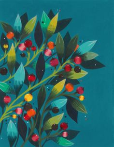 MAYA HANISCH | ARTWORK & BOOKS Cute Wallpaper Backgrounds, Cute Wallpapers, Scandinavian Paintings, Gouache, Diy Art, Maya, Plant Leaves, Folk, Illustration Art
