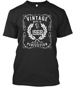 Vintage Made In 1968 50 Years Awesome Aged To Perfection Birthday T shirt Gift