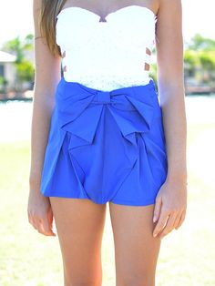 bow tie skirt. love the colors!