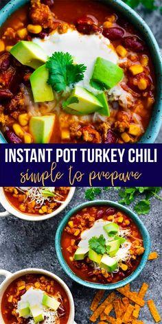 The Absolute BEST Instant Pot Turkey Chili | sweetpeasandsaffron.com