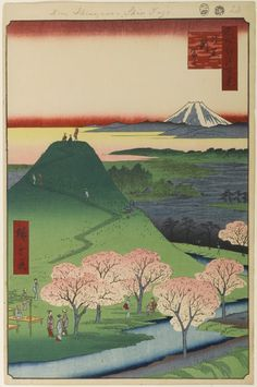 © Utagawa Hiroshige - One Hundred Famous Views of Edo.  Spring.  illustration |  xilografia |  ukiyo-e