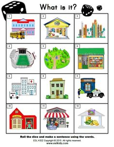 Counting Activities, Activities For Kids, Teaching English, English Class, Community Places, Community Helpers Preschool, Science Worksheets, France, Inspiration For Kids