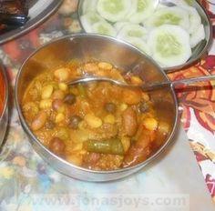 Mixed bean Rajma Kheema