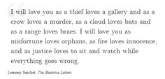 Lemony Snicket, The Beatrice Letters
