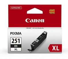Canon Ink CLI251 BK XL Individual Ink Tank -- To view further for this item, visit the image link. (Note:Amazon affiliate link)