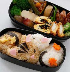 This week's special - cat bento Japanese Bento Lunch Box, Bento Box Lunch, Bento Recipes, Bento Ideas, Cute Food, Good Food, Amazing Food Art, Japanese Food Art, Cute Bento