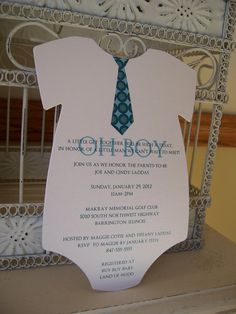 Oh Baby Boy Tie Themed Shower Invitation A by BeautifullyInviting