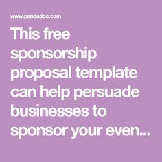 Sponsorship Application Templates  Free Sample Example