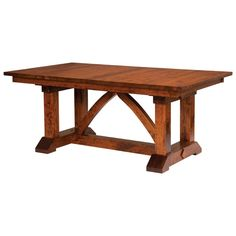 Solid Oak, Maple, Cherry and Quarter Sawn White Oak Trestle Dining tables are made in the USA. The Bostonian is made of solid wood and quality finishes.