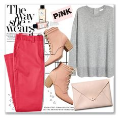 """""""Pink"""" by sara-488 ❤ liked on Polyvore featuring Anthropologie, HarLex, D&G, Brinley Co and Lands' End"""