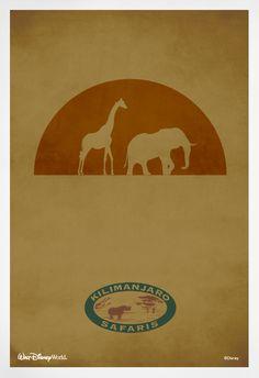 Kilimanjaro Safaris minimalist poster #WaltDisneyWorld