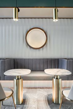 Yanlord Clubhouse Shenzhen by Architects Limited Modern Interior Design, Interior Architecture, Feature Wall Design, Banquette Seating, Cafe Design, Design Design, Hospitality Design, Restaurant Design, Modern Restaurant