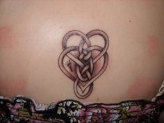 My 1st Tattoo - Celtic Motherhood Knot with a twist - did a footprint instead of a dot for my son. :-) mamatmc