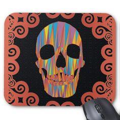 Colorful Skull Mousepads  #Skull #Halloween #Mousepad