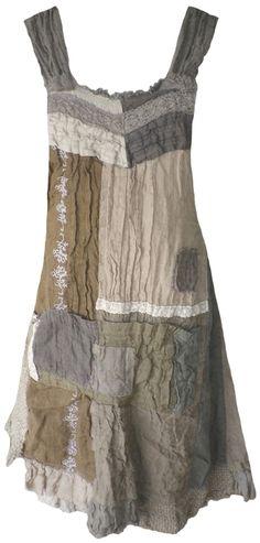 Magnolia Pearl: Lentil patchwork linen Willow Dress