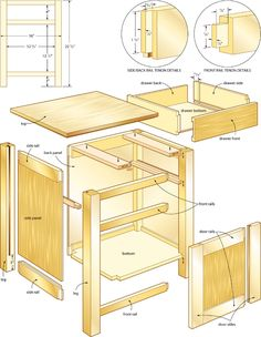 Classic night stand woodworking plans 4