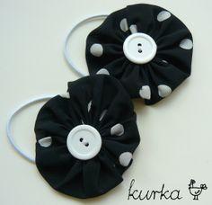 gumki handmade by kurka - kwiatki w kropki