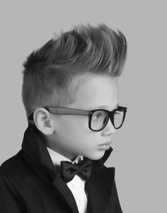 """Hot Tot Haircare- Trends in Boy's Hair 2014 Added to Hairbrained  by Megan Gage """"Longer on top and short on the sides. Styling Gel applied to wet hair, texture created with Structure Whip and look set with Finishing Mist"""""""