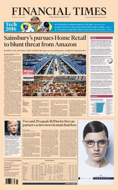 Financial Tines Financial Times, Sainsburys, First Step, January 2016, Wednesday, Retail, Amazon, Amazons, Riding Habit