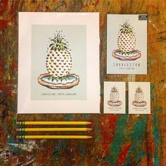 Texture Design, Pineapple Fountain, Charleston, SC Print. Local Artist, magnet, postcard. Because we live our pineapples!! @texturedesignco is making amazing local…