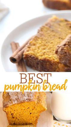Best Pumpkin Bread Recipe, Pumpkin Loaf, Moist Pumpkin Bread, Pumpkin Puree, Bread Board, Fall Treats, Thanksgiving Recipes, Cookie Dough, Bread Recipes