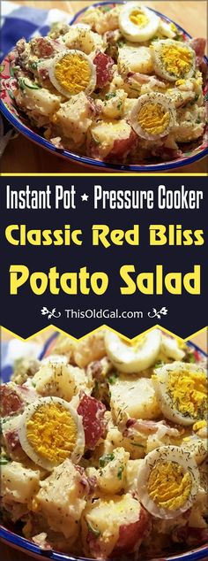 Cooker Classic Red Bliss Potato Salad makes a colorful presentation wit. - Instant pot -Pressure Cooker Classic Red Bliss Potato Salad makes a colorful presentation wit. Pressure Cooker Potatoes, Instant Pot Pressure Cooker, Pressure Cooker Recipes, Pressure Cooking, Instant Pot Red Potatoes, Red Bliss Potatoes, Instapot Potato Salad, Instapot Potatoes, Mashed Potatoes
