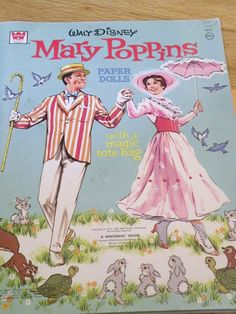 Walt Disney MARY POPPINS Paper Dolls by BarbieandFriendsVtg
