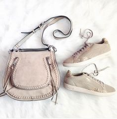 Rebecca Minkoff Vanity Saddle Bag and puma sneakers