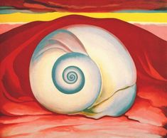 Art History Timelines: View Artwork: Georgia O'Keefe, Red Hill and White Shell
