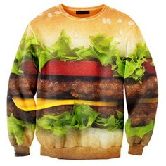 Sweat imprimé mixte hamburger - Mr Gugu and Mr Gugu Ugly Sweater, Swagg, Salmon Burgers, Cute Outfits, Graphic Sweatshirt, Graphic Sweaters, Graphic Tees, Unisex, My Style