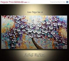 SALE LARGE ORIGINAL Abstract Blossom Tree by LanaGuiseFineArt