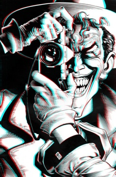 I kinda really want this as a tattoo... ? The Joker.. w/out the 3D though, maybe on my thigh?