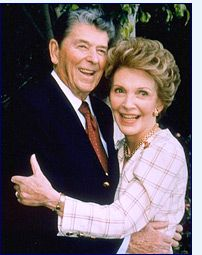 Ronald & Nancy Reagan. They will go down in history a most respected. They are going to be a tough couple to measure up to in the white house, in both manners and capability.j
