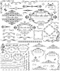 vector | Wedding decorative frames and borders vector | Vector Graphics Blog