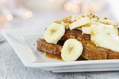 French Toast Casserole in your slow cooker, also, you can use apples instead of bananas.