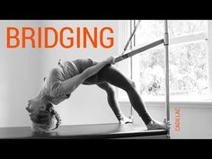 How to do the Pilates Bridge on the cadillac (Pelvic Press on the trapeze table) - YouTube